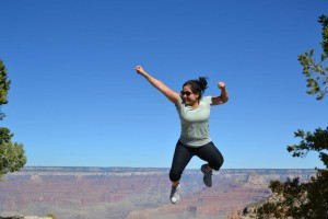 Jumping at Grand Canyon